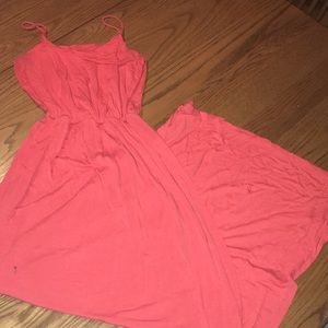 Lush size xs orange maxi dress